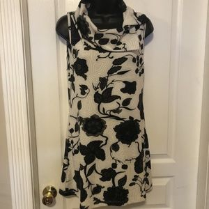 Papillon White and Black Floral Summer Dress